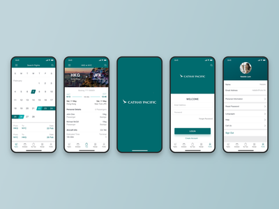 Aviation UI/UX Concept for Cathay Pacific aviation design ui ux