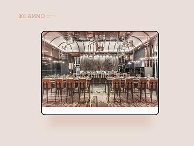 Website Design for AMMO web website branding identity restaurant