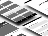 Accommodation Renting App Wireframes