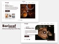 Bariscof - Minimal Landing Page Coffee Shop recipe coffee branding concept minimal layoutdesign landing page website layout ui simple homepage