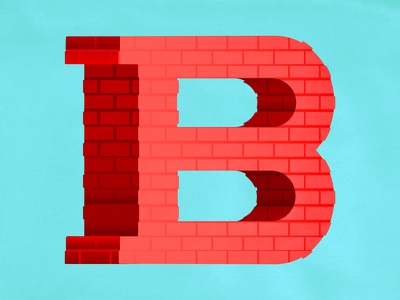 36 Days of Type - B typographic handlettering illustratedtype illustration typography lettering brick letterb b