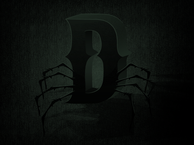 36 Days of Type - D 36daysoftype illustratedtype illustration lettering scary dark type typography letter d
