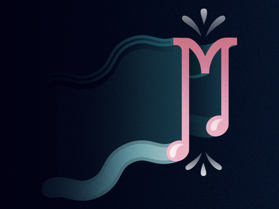 36 Days of Type - M music graphicdesign illustratedtype typography type 36daysoftype 36days-m