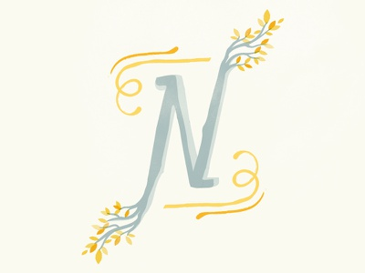 36 Days of Type - N calligraphy nature graphicdesign illustratedtype handlettering lettering typography type 36daysoftype 36days-n