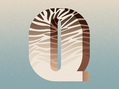 36 Days of Type - Q zebra animalprint quagga graphicdesign illustratedtype handlettering lettering typography type 36daysoftype 36days-q