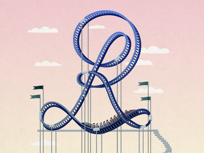 36 Days of Type - R amausementpark fair rollercoaster graphicdesign illustratedtype typography type 36daysoftype 36days-r