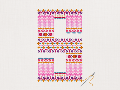 36 Days of Type - S crossstitch stitch graphicdesign illustratedtype handlettering lettering typography type 36daysoftype 36days-s