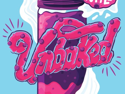 Unbaked Type cookiedough cookie vape illustrated type type vector handlettering lettering typography