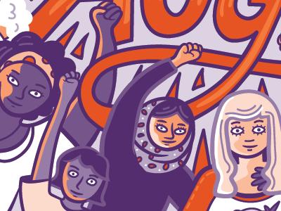 Girls illustration comic cartoon feminism women girls wip girl power