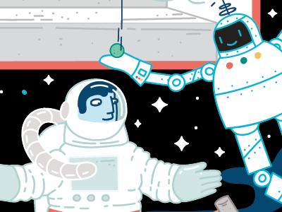 Space kidlitart childrensillustration illustration cartoon comic moon space science