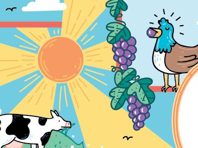 Food chain foodchain kidlitart childrensillustration illustration cartoon comic animals farm science