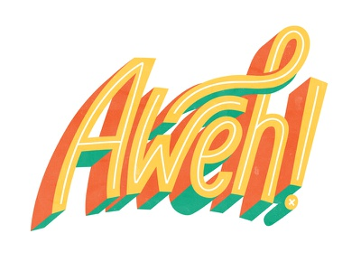 Aweh peace illustratedtype illustration hello south africa typography type aweh