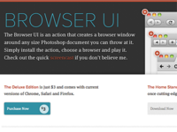 Browser UI (Photoshop Action)