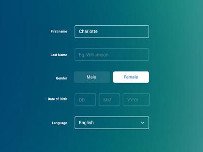 Clean Form UI by e3creative - Dribbble