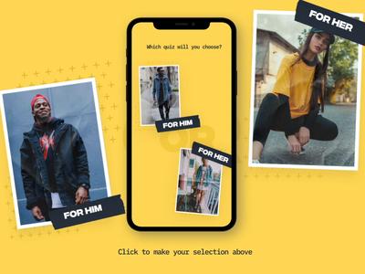 Fashion Quiz UI