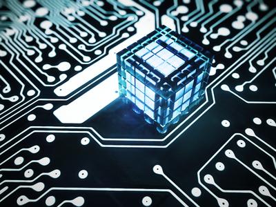 Circuit Cube circuit cube render blender