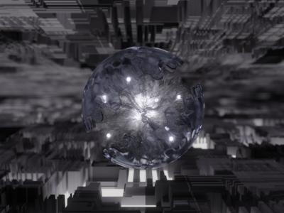 Power Sphere X 3d abstract sphere render blender