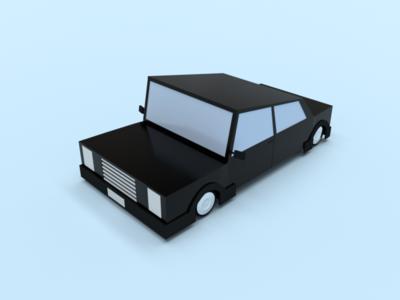 Motor-vehicle stylised render blender car 3d