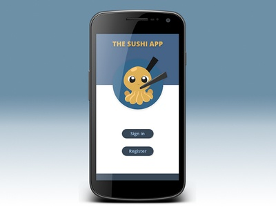 The Sushi app Landing Page wireframe ui