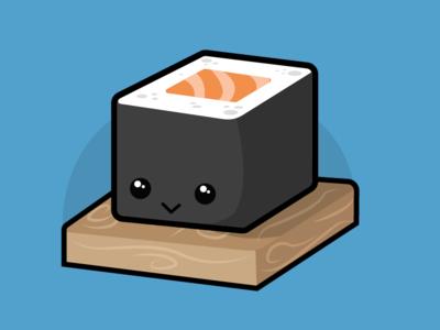 Salmon Maki design vector 2d sushi illustation