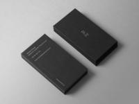 Minimal business card design - Marcin Ziatyk