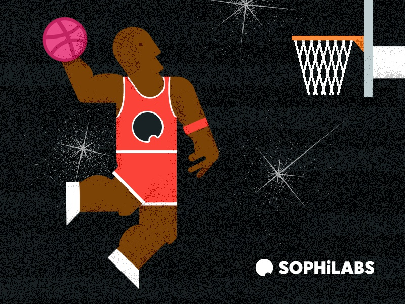 Hello dribbble baskteball illustration jordan hello dribbble debut