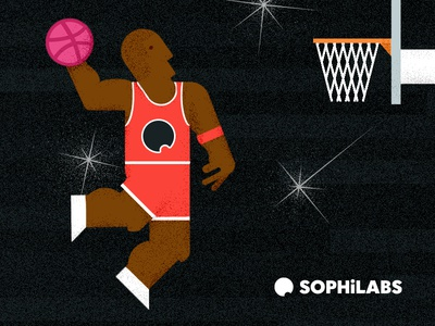 Hello dribbble baskteball illustration jordan hello dribbble debut