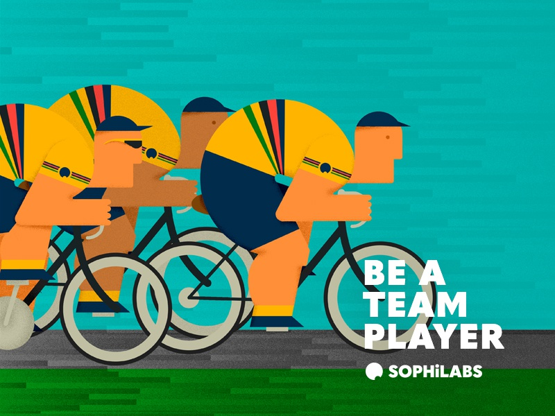 Be a team player be a team player speed sport cycle team bicycle illustration