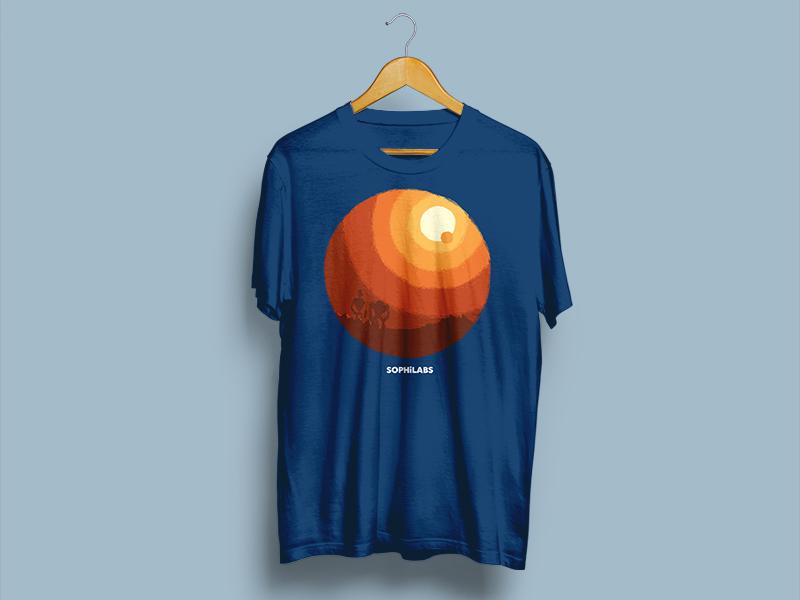 Desert shirt desert illustration sophilabs robots shirt
