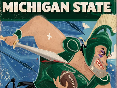 Michigan State football spartans green state msu michigan state sword sports mascots