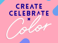 Create Celebrate Color Logo