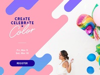 Create Celebrate Color Landing Page