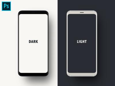 Free PSD Mockup-Galaxy S9