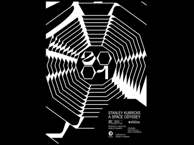 2001 A SPACE ODYSSEY illustrations shape typography experimental typography experimental type vector film art film poster graphic design 2001