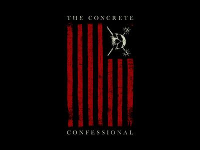 Hatebreed - The Concrete Confessional flag hardcore hatebreed adobe apparel band merch merch design design art