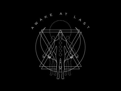 Awake At Last - Sacred sacred geometry monoline apparel band merch merch design merchandise graphic design design art