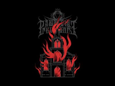 A Wake In Providence - Crown of Flames tattoo monoline metal apparel merchandise band merch merch design graphic design design art