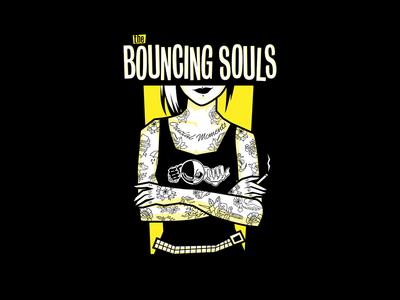 The Bouncing Souls - Jersey Girl tattoos punk adobe apparel merchandise merch design band merch graphic design design art