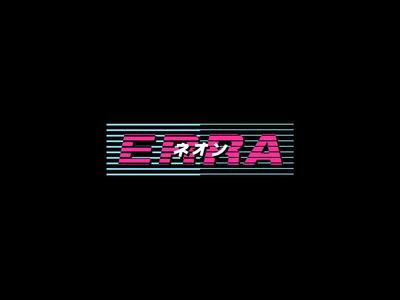 Erra neon vaporwave 1980 fashion apparel merchandise band merch merch design design art