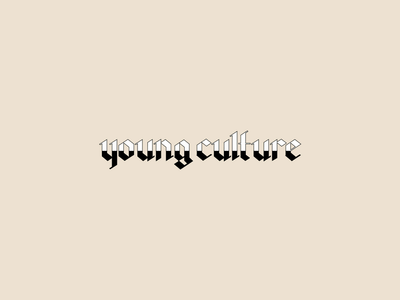 Young Culture blackletter typogaphy minimalist street style fashion apparel merchandise band merch merch design graphic design design art