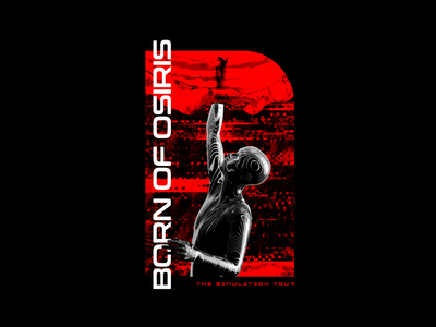 Born of Osiris - The Simulation fashion apparel merchandise band merch merch design graphic design design art