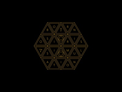 Born of Osiris geometry geometic monoline minimalist apparel merchandise band merch merch design graphic design design art