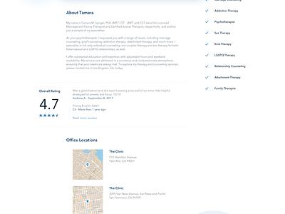 Patient Portal homepage landing page scheduling medical psychologist patient portal design website doctor appointment clean ux ui