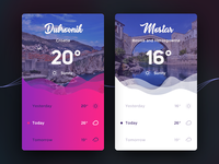 Weather App Design