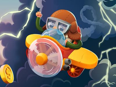 Brave Jet - 2d endless runner graphics design game design character design runner game puzzle mobile arcade illustration 2d