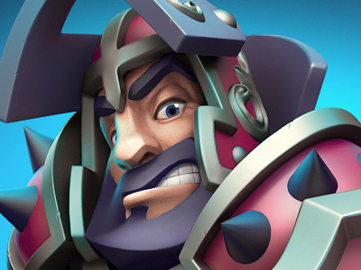 Knight 3d character clash royale clash of clans 3d game game art game character 3d