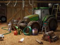 Barn illustration - 3d modeling and rendering