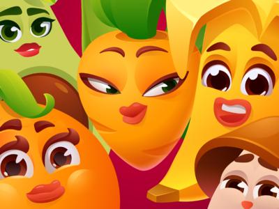 Action Vitas - Fruit characters design
