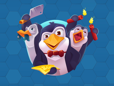 Zoopool - Characters 2d design puzzle match3 design game ui animals lion panda penguin casual game character game art illustration game design vector arcade mobile graphics design character design 2d