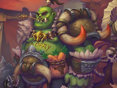 Orcs Village - Illustration and assets